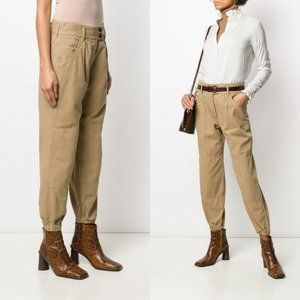 Nili Lotan Neutrals Barley Straight Trouser Pants